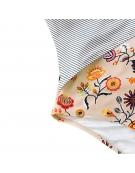 """Vientisas Maudymosi Kostiumėlis ,,Floral And Striped"""""""