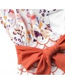 """Womens One Piece Body Suit  ,,Leaf Print Wrap"""""""