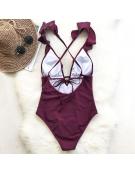 Bordo Vientisas maudymosi kostiumėlis