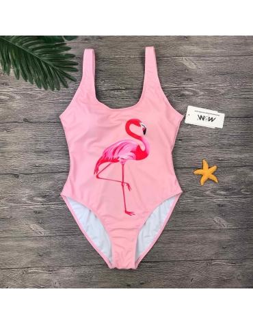"""Rožinis Vientisas Maudymosi Kostiumėlis ,,Flamingo"""""""